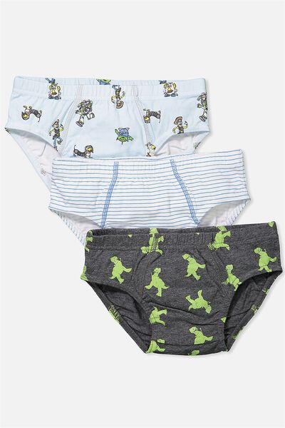 Boys Licence Brief 3 Pack, TOY STORY MIX