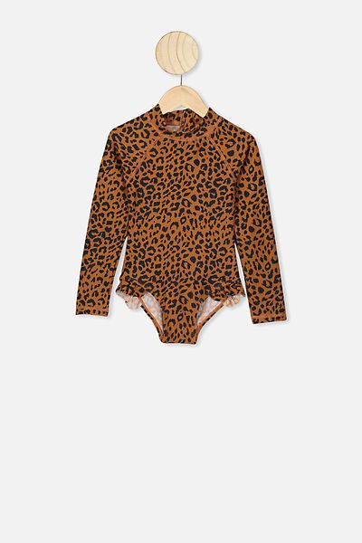 Lydia One Piece, AMBER BROWN LEOPARD