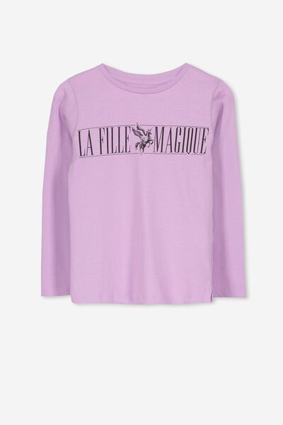 Penelope Long Sleeve Tee, SWEET LILAC/LA FILLE MAGIQUE/SET IN