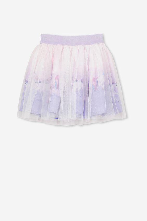 Trixiebelle Tulle Skirt, VANILLA/PAINTED UNICORN