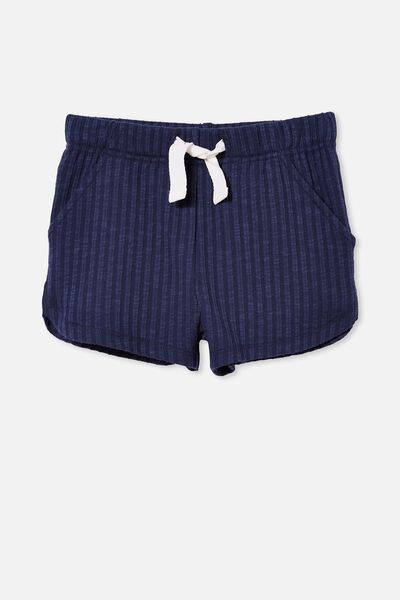 Gianna Knit Short, INDIGO RIB