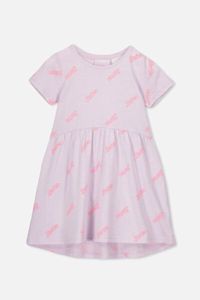 Freya Short Sleeve Dress, LCN MAT ORCHID HUSH MARLE/BARBIE