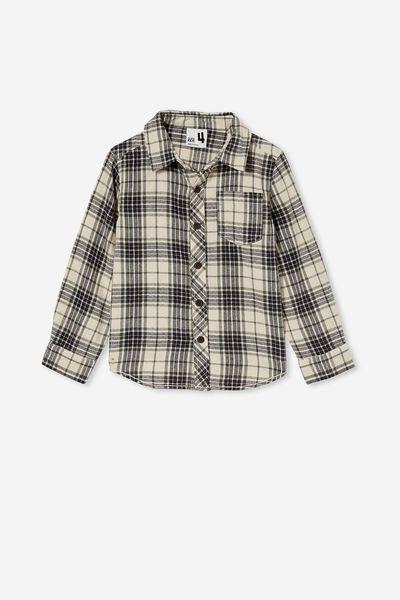 Rugged Long Sleeve Shirt, RAINY DAY PLAID