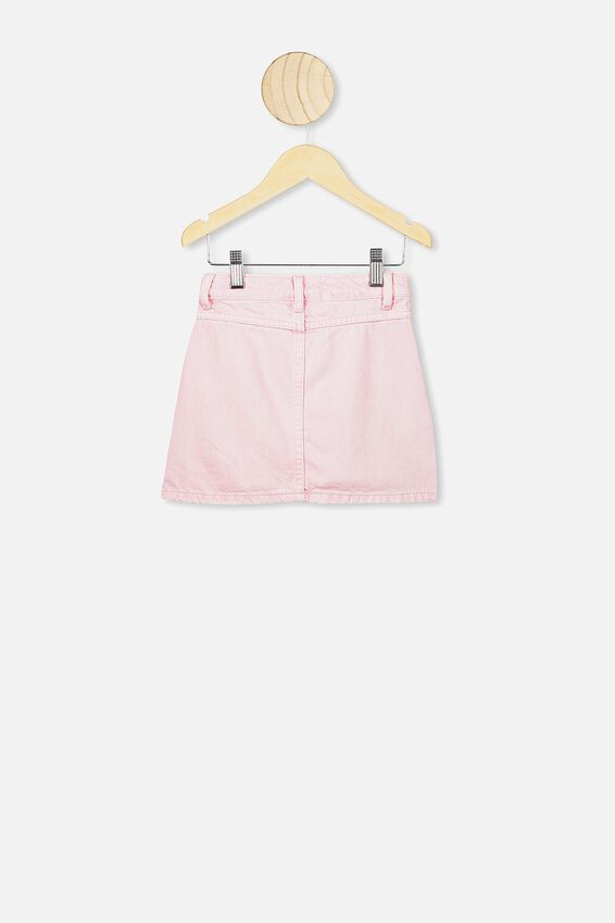 Kirstie Denim Yoke Skirt, MARSHMALLOW