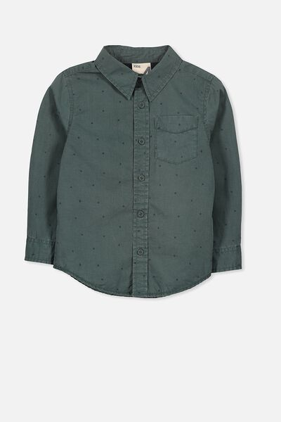 Noah Long Sleeve Shirt, DARK FOREST STARS