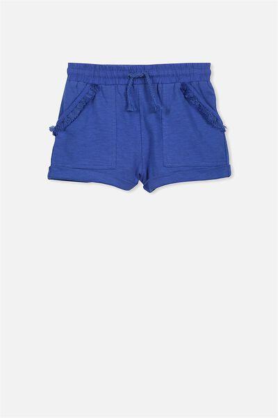 Nila Knit Short, UNI BLUE/TASSEL