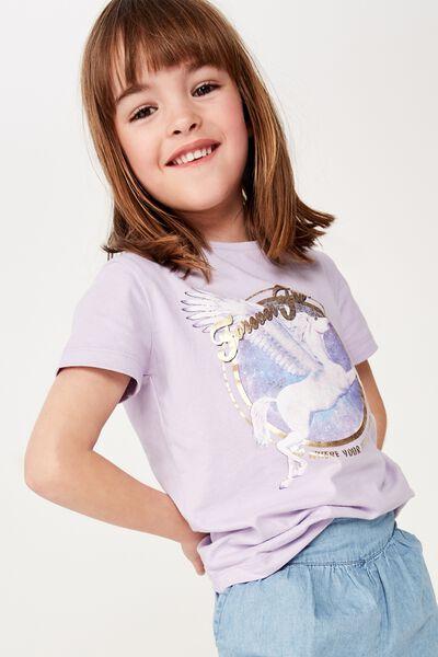 Penelope Short Sleeve Tee, BABY LILAC/FREE PEGASUS/MAX