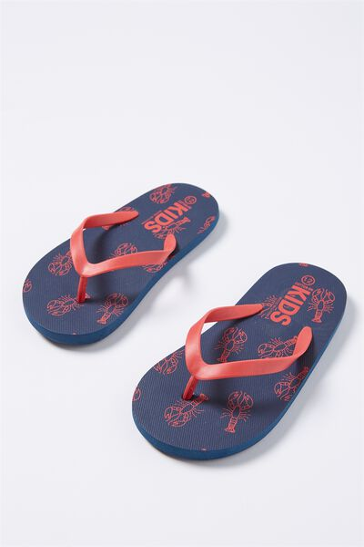 Printed Flip Flop, LOBSTERS B