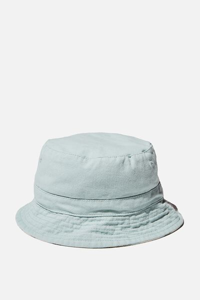 Reversible Bucket Hat, DUCK EGG STRIPE