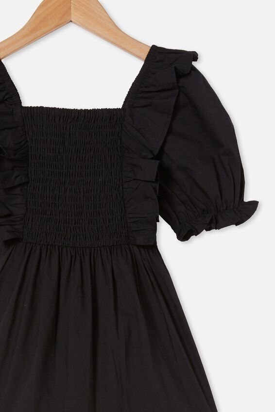 Love Short Sleeve Dress, BLACK