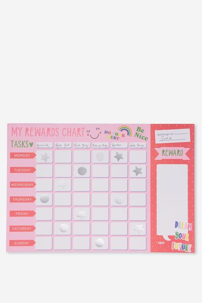Wap Rewards Chart, PINK DREAM