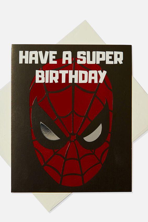 Licensed Birthday Gift Card, LCN MAR SPIDERMAN SUPER BIRTHDAY