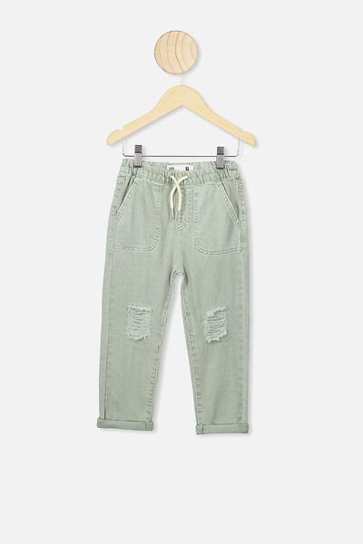 Daria Slouch Jean, STONE GREEN