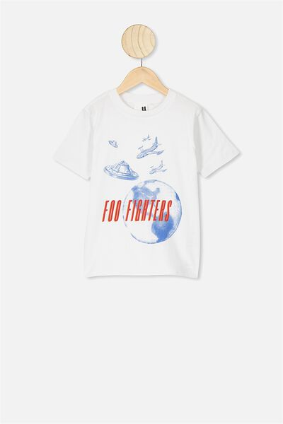 Co-Lab Short Sleeve Tee, LCN LIV FOO FIGHTERS SPACE/WHITE