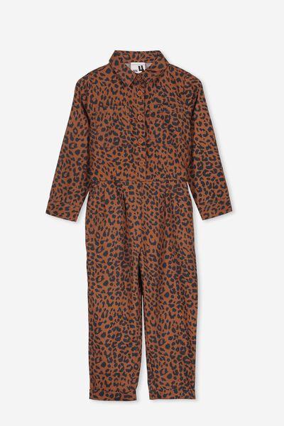 Gizelle Boiler Suit, AMBER BROWN/LEOPARD