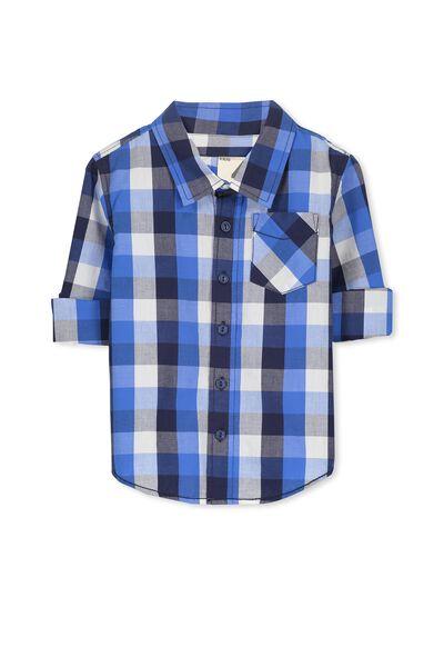Noah Long Sleeve Shirt, BANDIT BLUE/CHECK
