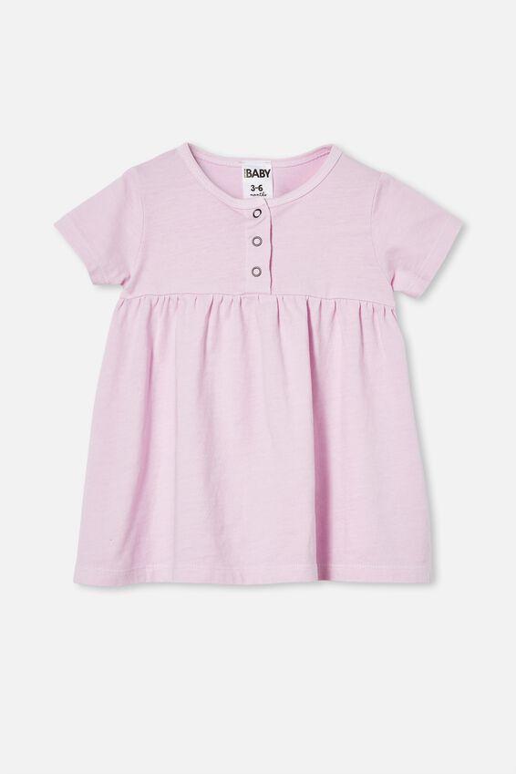 Kendall Short Sleeve Dress, PALE VIOLET WASH