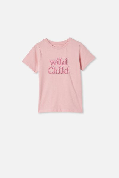 Penelope Short Sleeve Tee, MARSHMALLOW/WILD CHILD DOUBLE