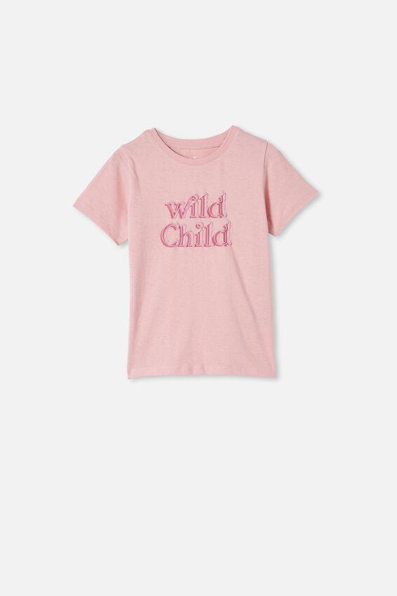 Penelope Short Sleeve Tee, MARSHMALLOW/WILD CHILD DOUBLE
