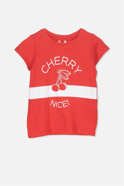 Penelope Short Sleeve Tee, FLAME SCARLETT/CHERRY NICE/SET IN