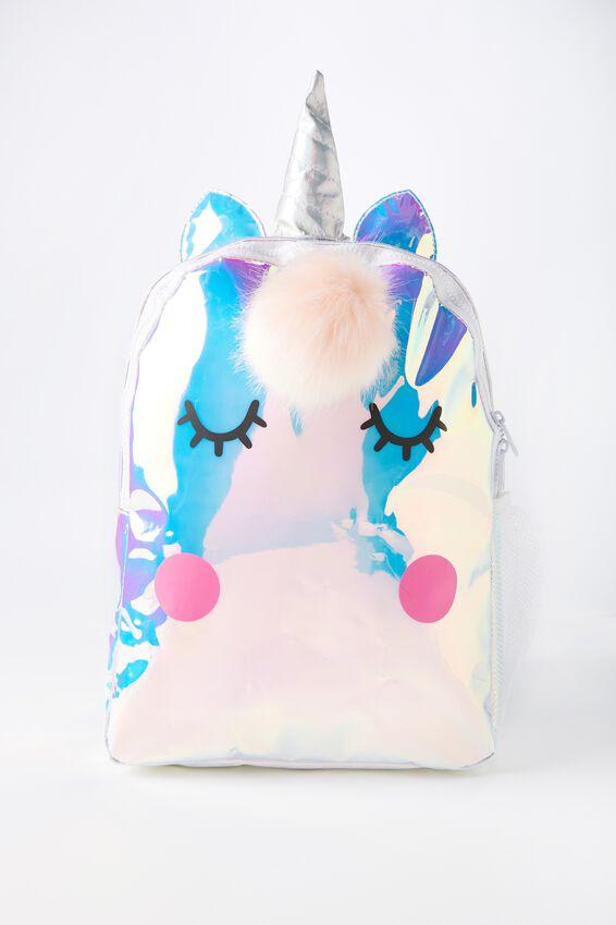 Unicorn School Backpack, IRIDESCENT UNICORN