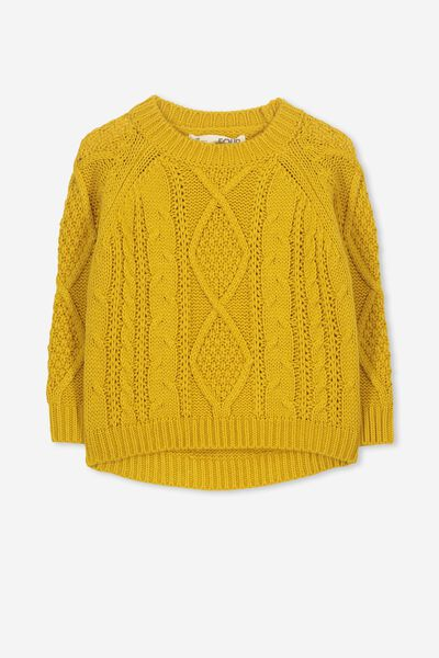Belinda Knit Jumper, MINERAL YELLOW