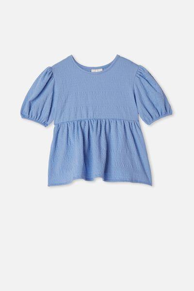 Carla Puff Sleeve Top, DUSK BLUE