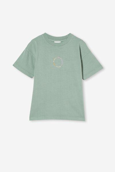 Scout Embellished Short Sleeve Tee, SMASHED AVO/HAPPY CIRCLE EMBROIDERY