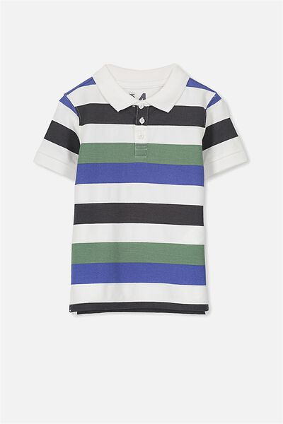 Kenny3 Polo, VANILLA/MULTI STRIPE