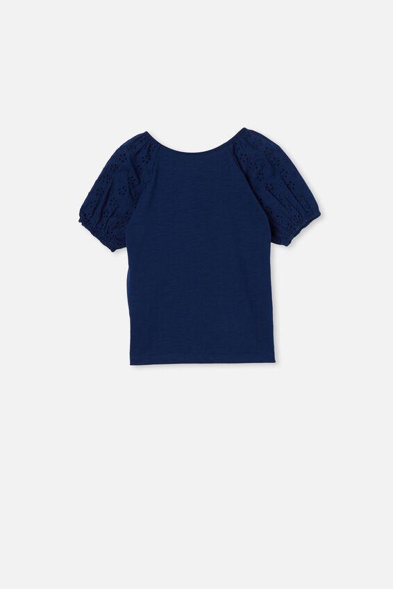Isabella Puff Sleeve Top, INDIGO