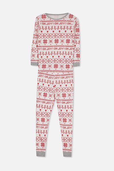 Charlie 1 Long Sleeve Pyjama Set, XMAS OH JOY