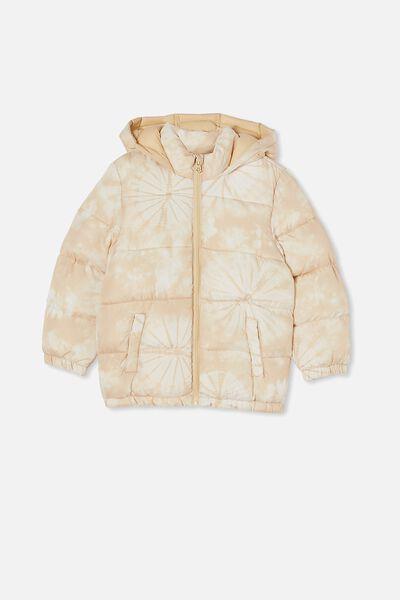 Frankie Puffer Jacket, SEMOLINA TIE DYE