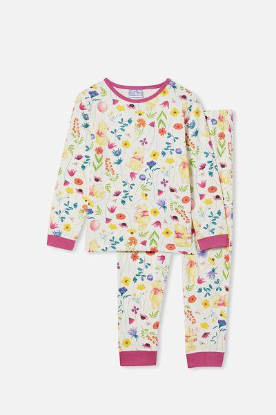 Florence Long Sleeve Pyjama Set Licensed, LCN DIS WINNIE THE POOH FLORAL/VANILLA