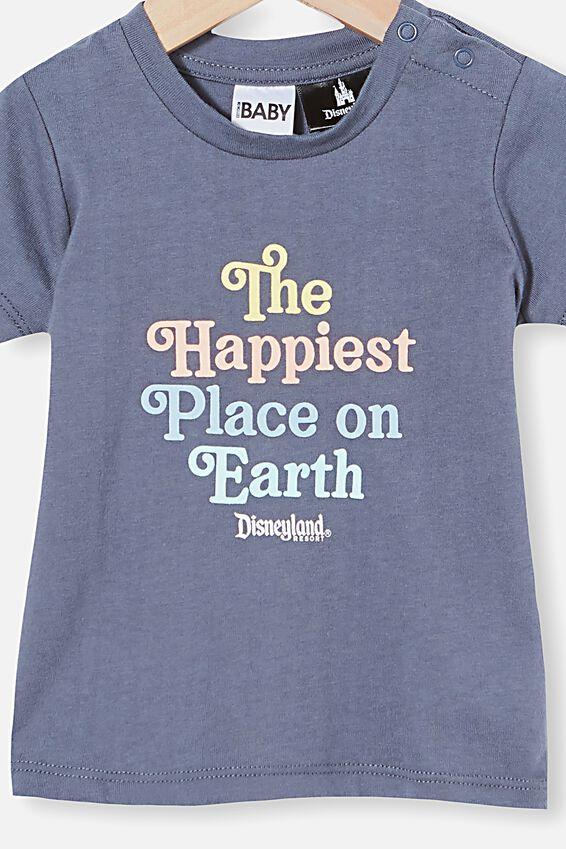Jamie Short Sleeve Tee-License, LCN DIS VINTAGE NAVY/HAPPIEST PLACE ON EARTH
