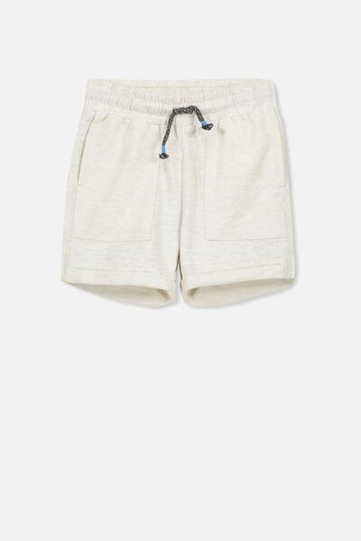 Henry Slouch Short, OATMEAL MARLE WASH