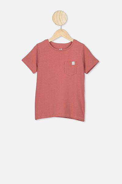 Core Ss Tee, RED BRICK