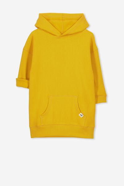 Viola Long Sleeve Hood Dress, GOLDEN ROD