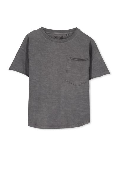 Anthony Active Ss Tee, WASHED GREY