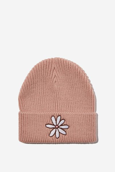 Winter Knit Beanie, ZEPHYR DAISY