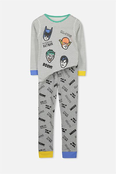 Harry Long Sleeve Boys PJ Set, JUSTICE LEAGUE