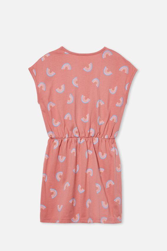 Sigrid Short Sleeve Dress, EARTH CLAY/RAINBOWS