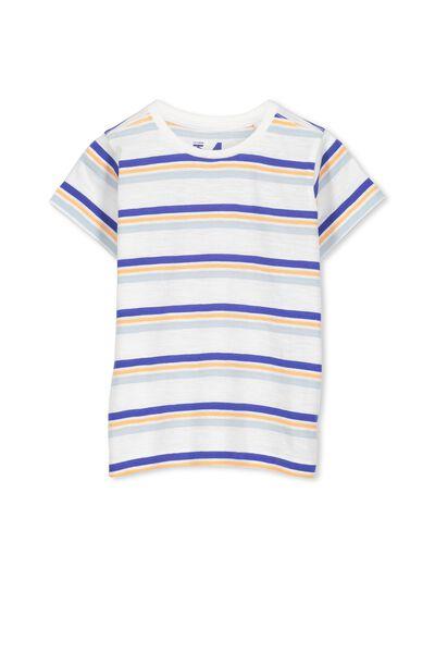 Max Short Sleeve Tee, BLUE/ORANGE STRIPE
