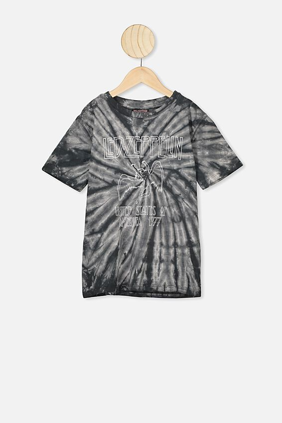 Co-Lab Short Sleeve Tee, LCN LED BLACK TIE DYE LED ZEPPLIN