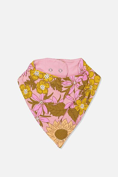 The Kerchief Bib, SWEET BLUSH/CORA FLORAL