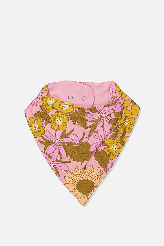 The Kerchief Bib, SWEET BLUSH/CORA FLORAL