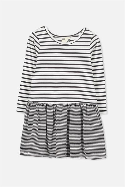 Carolin Long Sleeve Dress, PHANTOM/VANILLA STRIPE