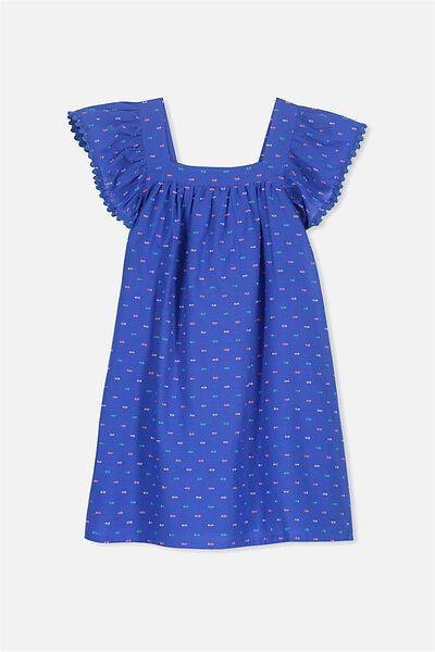 Pollyanna Dress, FRENCH BLUE DOBBY
