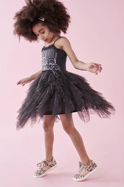 Iris Tulle Dress, PHANTOM/SEQUIN DECO