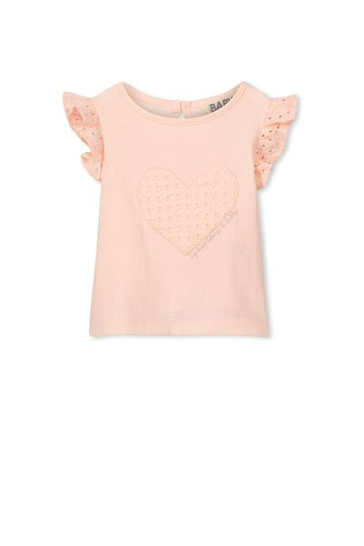 Julia Broderie Tee, SEA PINK/DADDY