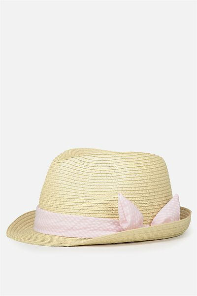 Trilby Hat, BUBBLEGUM PINK